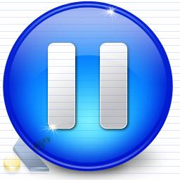 Symbol Blue Pause